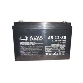Аккумуляторная батарея AS12-80 ALVA