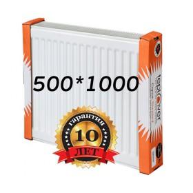 Стальной радиатор Teplover standard 500х1000 с боковым подключением 22 тип