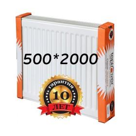 Стальной радиатор Teplover standard 500х2000 с боковым подключением 22 тип