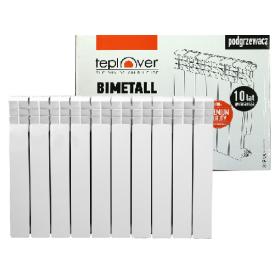 Биметаллический радиатор 500/100 10 секций TEPLOVER SUPER