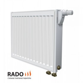 Стальной радиатор 500-1000 тип 22 Rado (Украина) нижнее подключение
