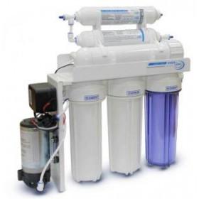 Система обратного осмоса Aqualine RO-6 с помпой