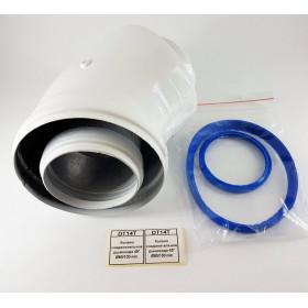 Колено соединительное дымохода 45° Ø60/100 mm