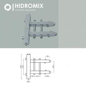 Гидрострелка с двухсторонним коллектором Hidromix 1 выхода 75 кВт