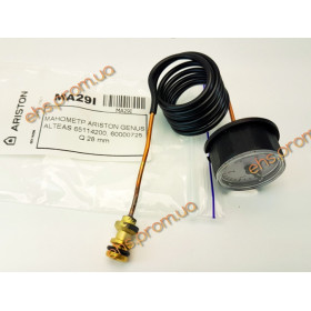 МАНОМЕТР ARISTON GENUS ALTEAS 65114200, 60000725. Q 28 mm