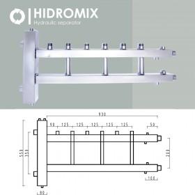 Гидрострелка с коллектором Hidromix 3 верхних выхода до 110 кВт