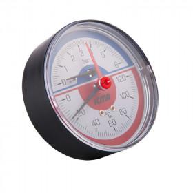 Термоманометр Icma №259 радиаторный с запорым клапаном 1/2
