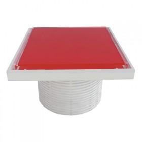 Надставки для трапа Styron STY-505-GFP со стеклянной решеткой или под плитку (RED) 150х150 мм