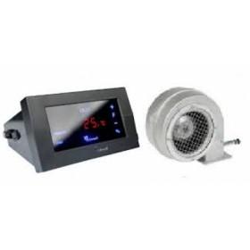 Комплект автоматики для твердотопливного котла KG Elektronik CS-19+вентилятор DP-02