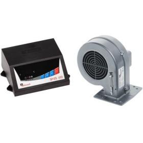 Комплект автоматики для твердотопливного котла KG Elektronik SP-05 LED+вентилятор DP-02