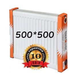 Стальной радиатор Teplover standard 500х500 с боковым подключением 22 тип