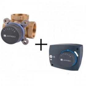 "Комплект Afriso ARV 382  клапан трехходовой Rp 3/4"" DN 20 + электропривод ARM323 (арт. 1338232)"