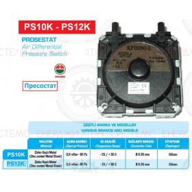 Датчик давления воздуха, Прессостат для газовых колонок 0,90  ; Производитель : КИТАЙ - Код товара : PS12K