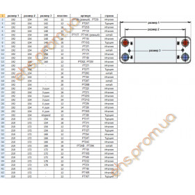 ПЛАСТИННЫЙ  ТЕПЛООБМЕННИК  SWEP VAILLANT VCK ALARKO NEW SERENA VIESSMANN D 12 ПЛАСТИНЫ 210 x 172 x - mm.