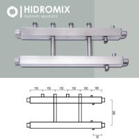 Коллекторная балка Hidromix 2 выхода в вверх до 75 кВт