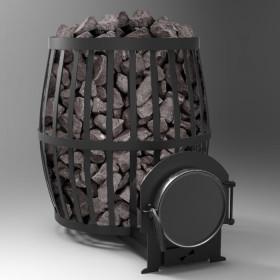 Печь для бани Бочка 30 м³ с выносом