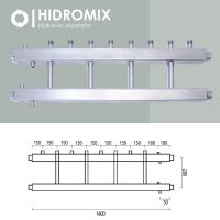 Коллекторная балка Hidromix 4 выхода в вверх до 75 кВт