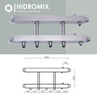 Коллекторная балка Hidromix на 2 нижних выхода до 180 кВт