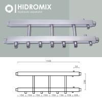 Коллекторная балка Hidromix на 3 нижних выхода до 75 кВт