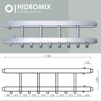 Коллекторная балка Hidromix на 4 нижних выхода до 75 кВт