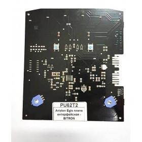 Ariston Egis плата интерфейсная -  , Б/У  ; Производитель : BITRON - Код товара : PU62T2
