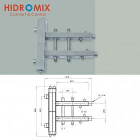 Гидрострелка с двухсторонним коллектором Hidromix на 2 выхода 75 кВт (1 вверх/1 вниз)