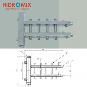 Гидрострелка с двухсторонним коллектором Hidromix на 4 выхода 75 кВт (2 вверх/2 вниз)