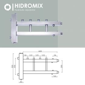 Гидрострелка с коллектором Hidromix 2 верхних выхода до 110 кВт
