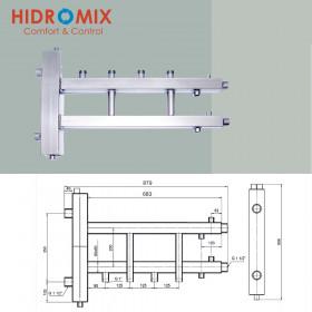 Гидрострелка с коллектором Hidromix 2 нижних выхода до 110 кВт