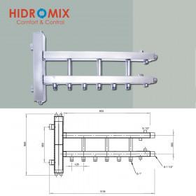 Гидрострелка с коллектором Hidromix 3 нижних выхода до 110 кВт