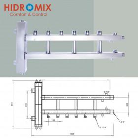 Гидрострелка с коллектором Hidromix 3 нижних выхода до 180 кВт