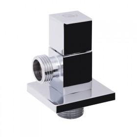 SD FORTE Кран угловой (квадрат) с керам.буксой 1/2 х 1/2   SF341W1515