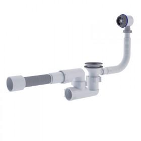 Сифон ANI Plast E255-E256 для ванны регулируемый с выпуском 1 1/2