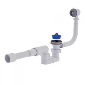 Сифон ANI Plast E055-Е056 для ванны, с выпуском и переливом 1 1/2