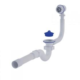 Сифон ANI Plast C6155 для ванны прямоточный, с выпуском и пластиковым переливом 1 1/2