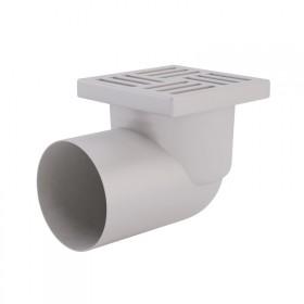 Трап ANI Plast TA1110 горизонтальный, выпуск 110 мм с пластиковой решеткой 15x15 см