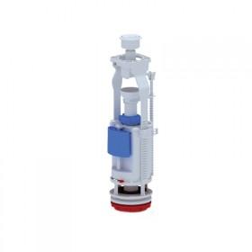 Арматура ANI Plast WC7050C двухуровневая, регулируемая без клапана, хромированная кнопка