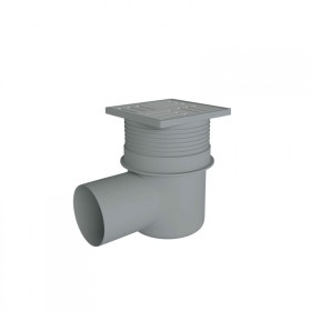 Трап ANI Plast TA1612 горизонтальный, регулируемый  выпуск 110 мм с нержавеющей решеткой 15x15 см