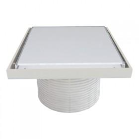Надставки для трапа Styron STY-505-GFFE со стеклянной решеткой или под плитку (WHITE) 150х150 мм