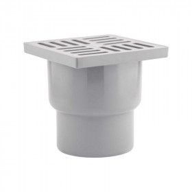 Трап Krpno Plast (TA1210) вертикальный, выпуск 110 мм с пластиковой решеткой 15х15 см