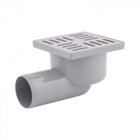 Трап Krono Plast (TA5104) горизонтальный, выпуск 50 мм с пластиковой решеткой 10х15 см